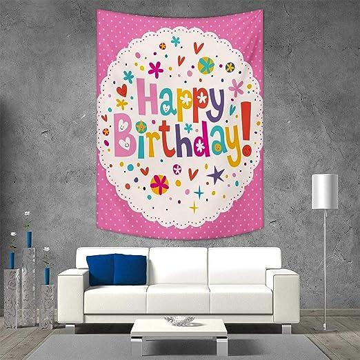 Colgante de pared de tapiz de cumpleaños con estampado en 3D ...