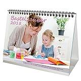 Premium Tischkalender / Kalender 2018 · DIN A5 · Bastelzauber weiß · Kalender zum Selbstgestalten · Bastelkalender · Fotokalender · Basteln · Edition Seelenzauber