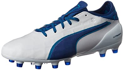 8c2a6f4ac0c5 Puma Men s Evotouch 2 Ag Football Boots White Blue  Amazon.co.uk ...