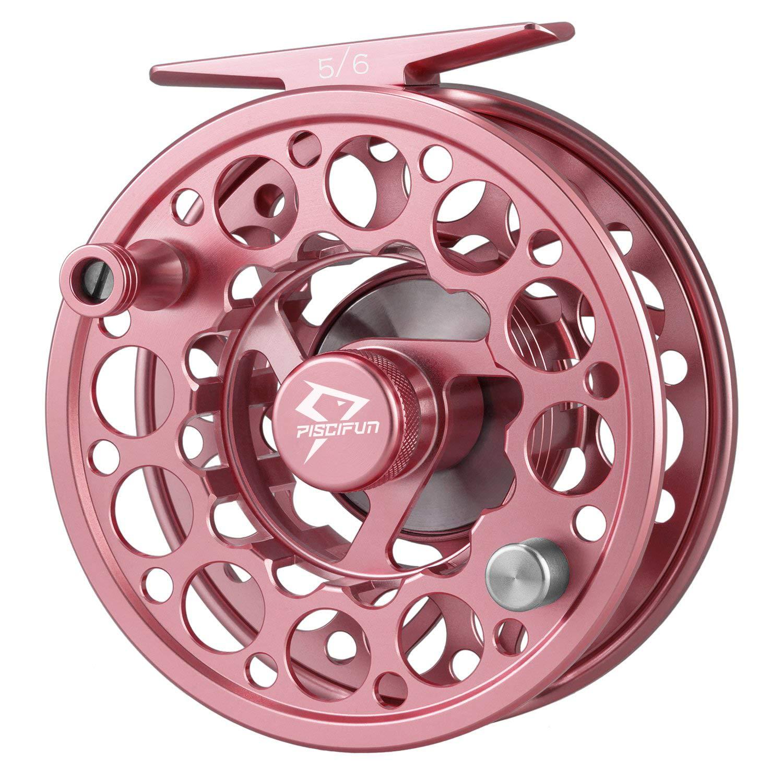 Reel Piscifun Mosca Sword Aluminio CNC Cuerpo 7/8 Pink