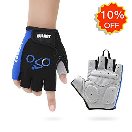 Cycle Padded Cycling Gloves Light Weight Bike Bicycle Fingerless Half finger New