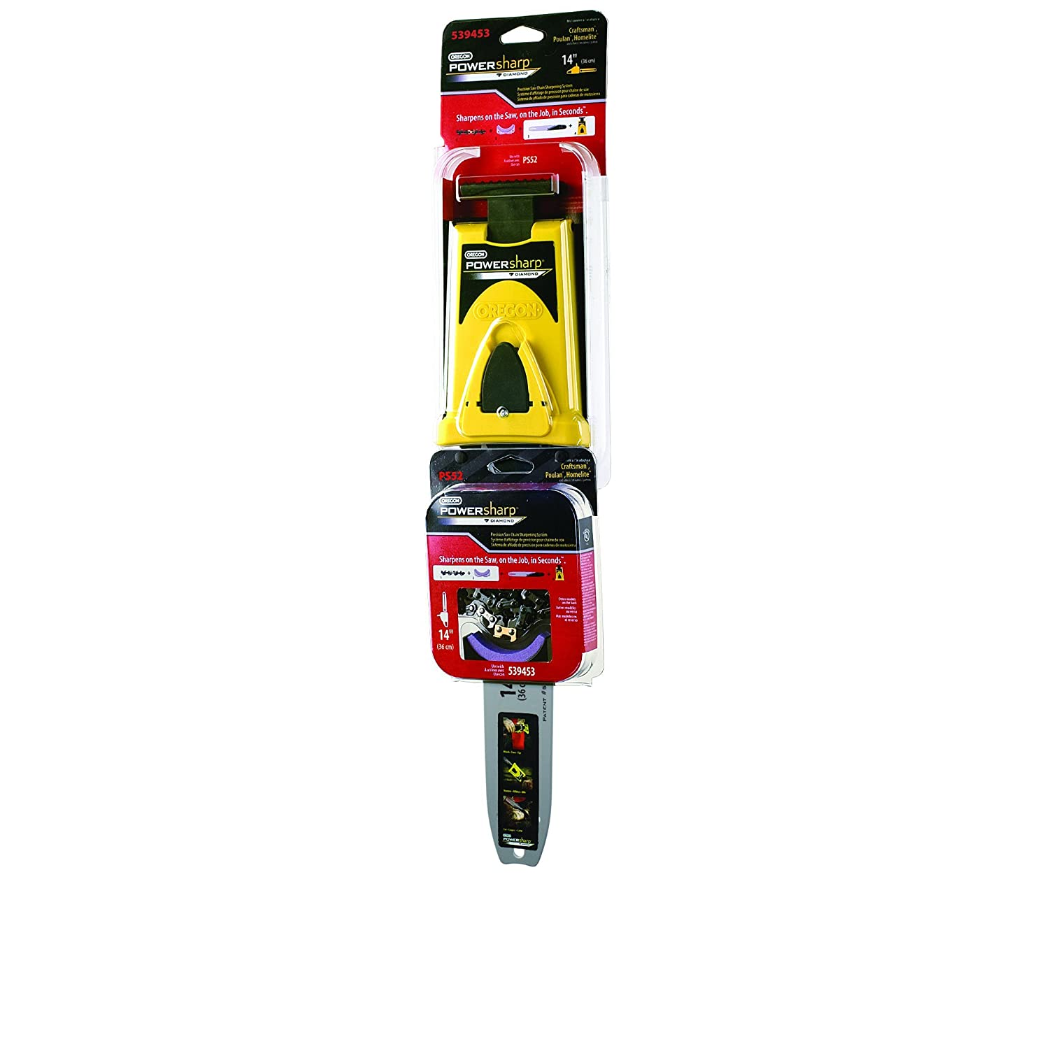 Oregon 541220 PowerSharp Starter Kit For 14-Inch Craftsman, Echo, Homelite, And Poulan Chain Saws