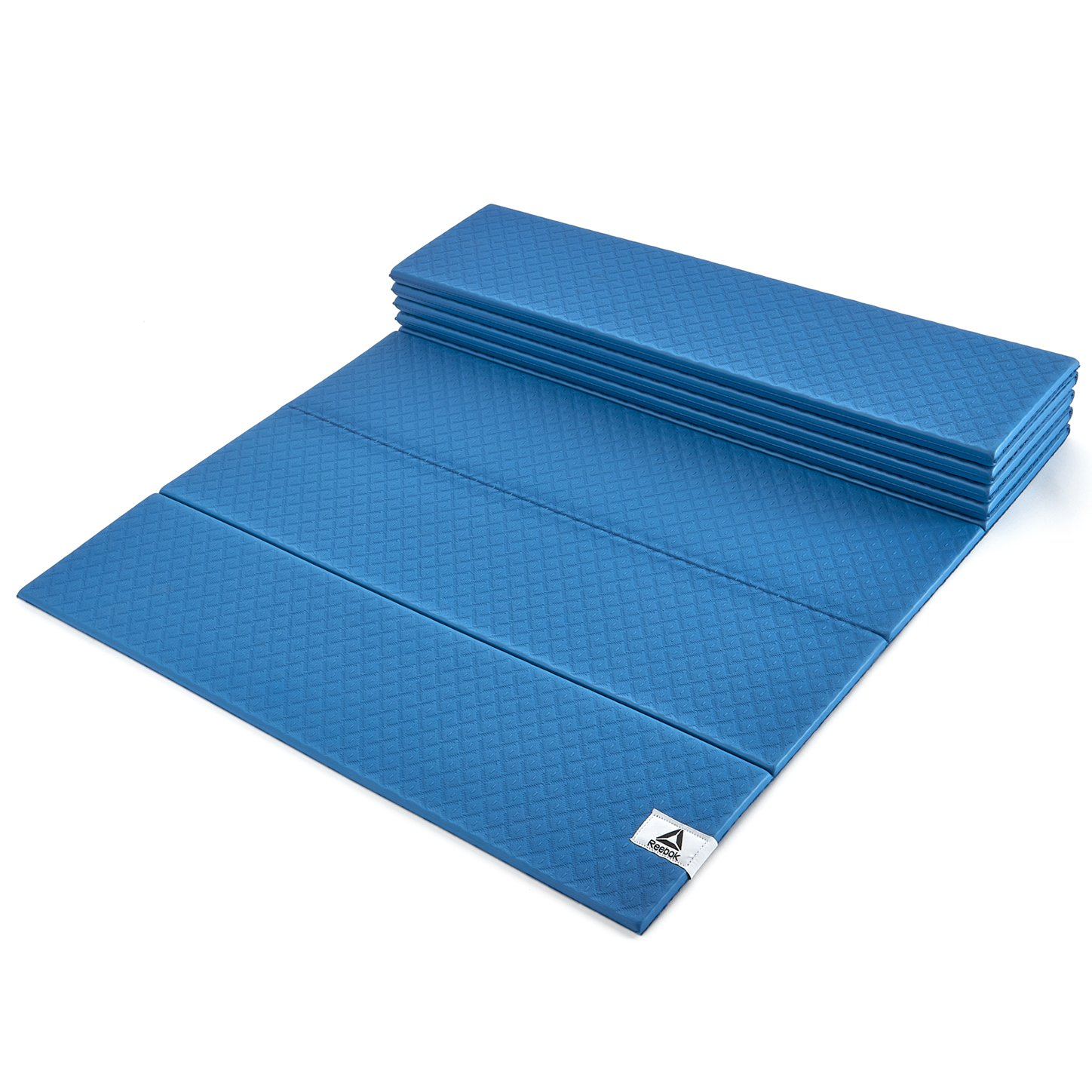 Amazon.com : Reebok Folded Yoga Mat, Blue/Black, 6mm ...