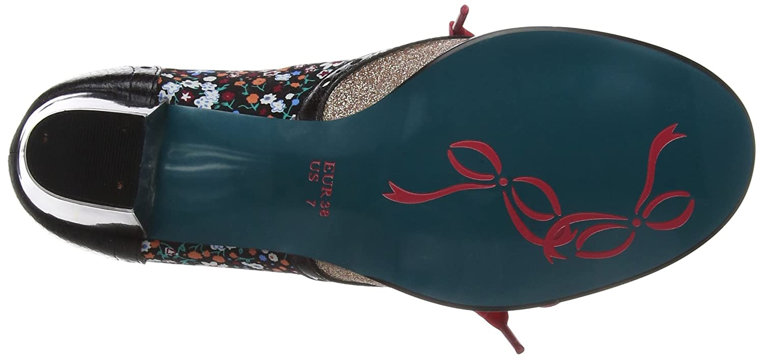 Poetic Licence by Irregular Choice Corporate Damen Corporate Choice Beauty Brogues, Rose Schwarz (schwarz/Gold R) c32aff