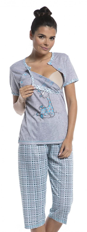 Zeta Ville - Umstands Still-Pyjama kurzen Ärmeln gekürzte Hosen - Damen - 173c nursing_night_173