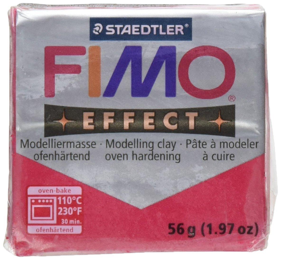 Staedtler Pasta per Modellare Fimo Soft 1.97once-8020–28Rosso Rubino Metallizzato Notions - In Network 34023282