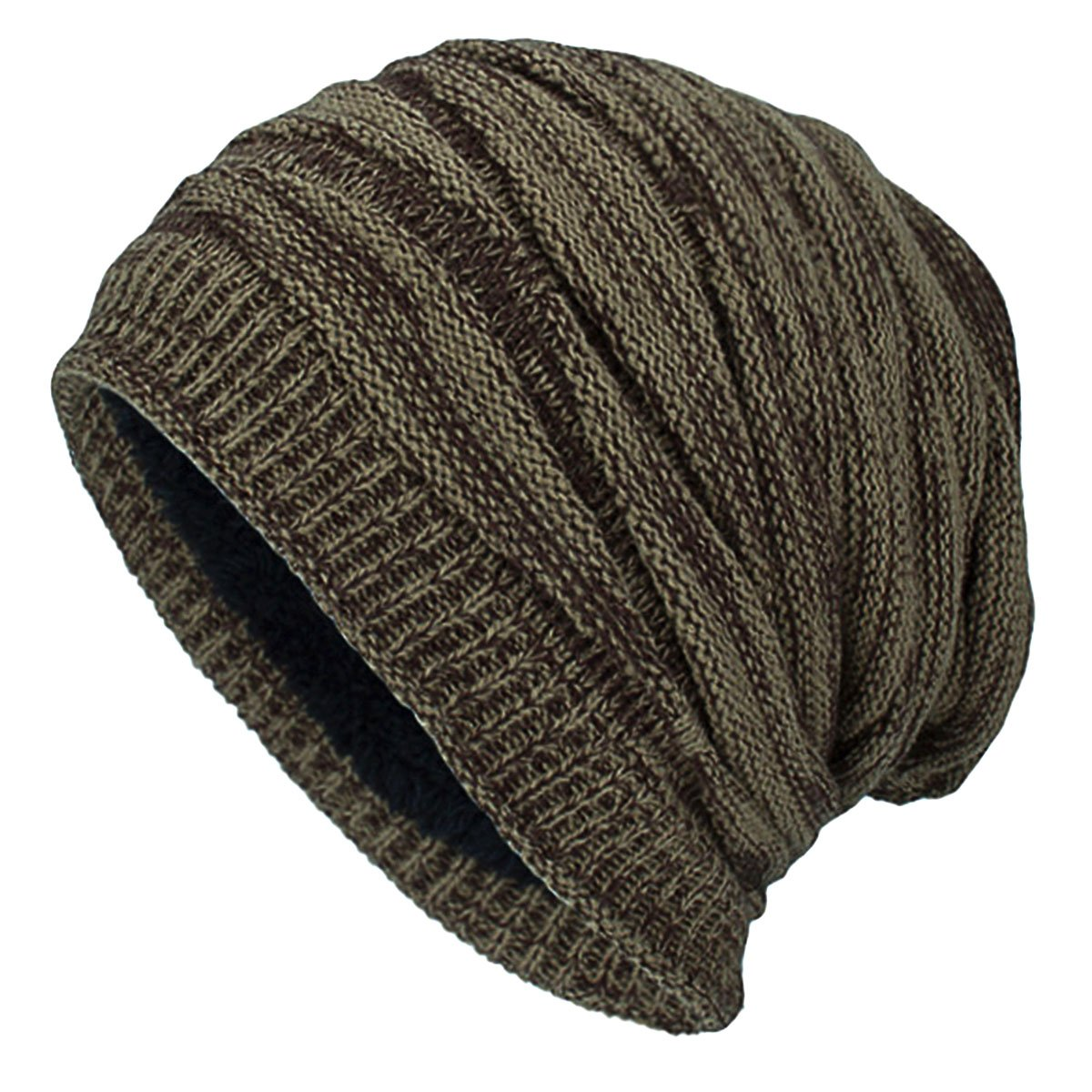 3939b12cc70 Amazon.com  Thick Warm Beanie Hat - iParaAiluRy Slouchy Beanie Knitted Hat  for Women Men - Winter Fleece Lined Wool Baggy Slouch Skull Cap  Sports    ...
