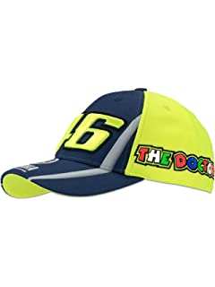 Valentino Rossi Yamaha Blue-Multi Vr46 Racing Kids Snapback Cap (Default, Yellow)