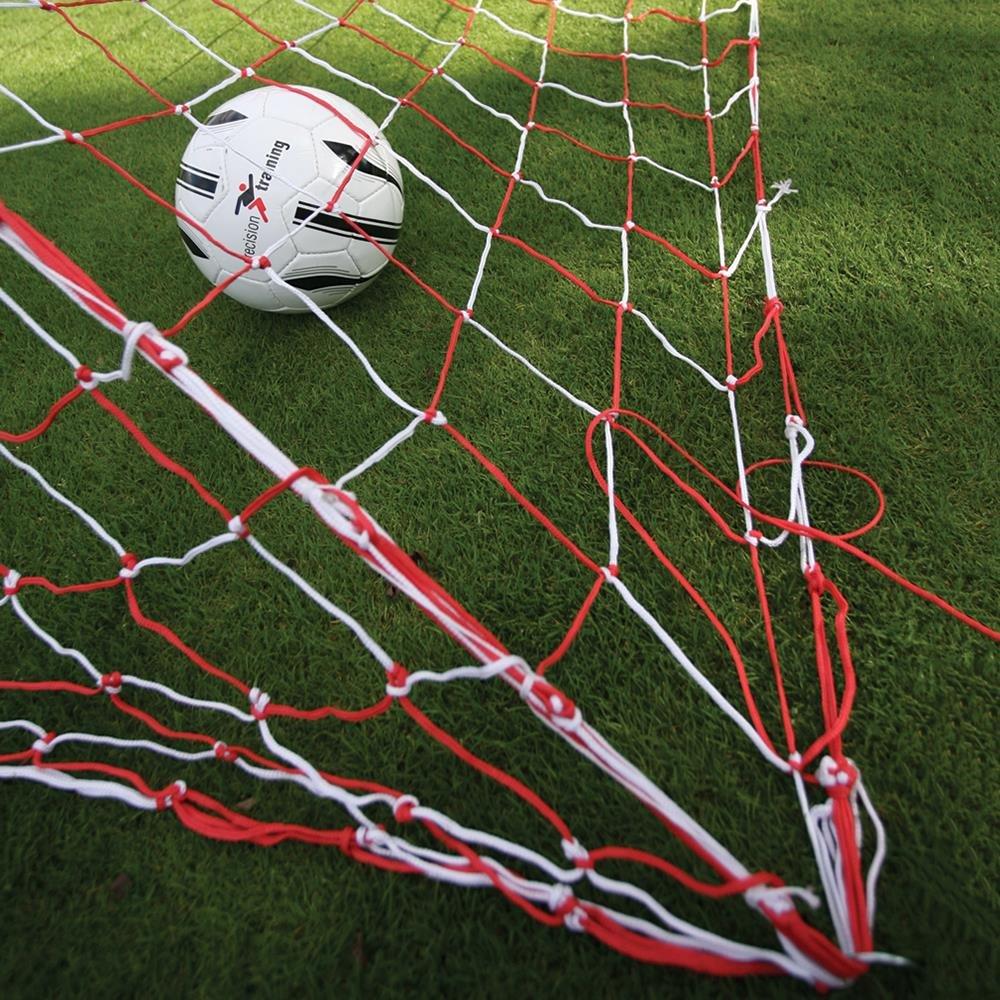 2 x Precision Training 3,5 mm geknotet Ziel Net Polyethylen Fußball Net RRP £99