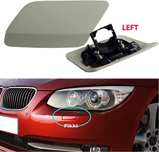 2X Front Bumper Headlight Washer Covers Cap Unpainted Trim for BMW E92//E93 3 Series