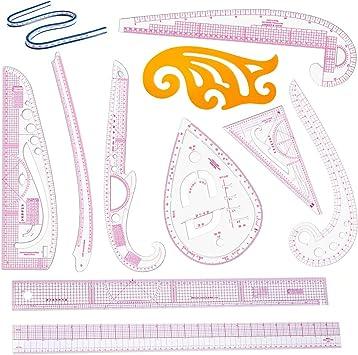 13 Stk Näh Lineal Set Lineal Französisches Kurvenlineal Metrisches Maß Schneider