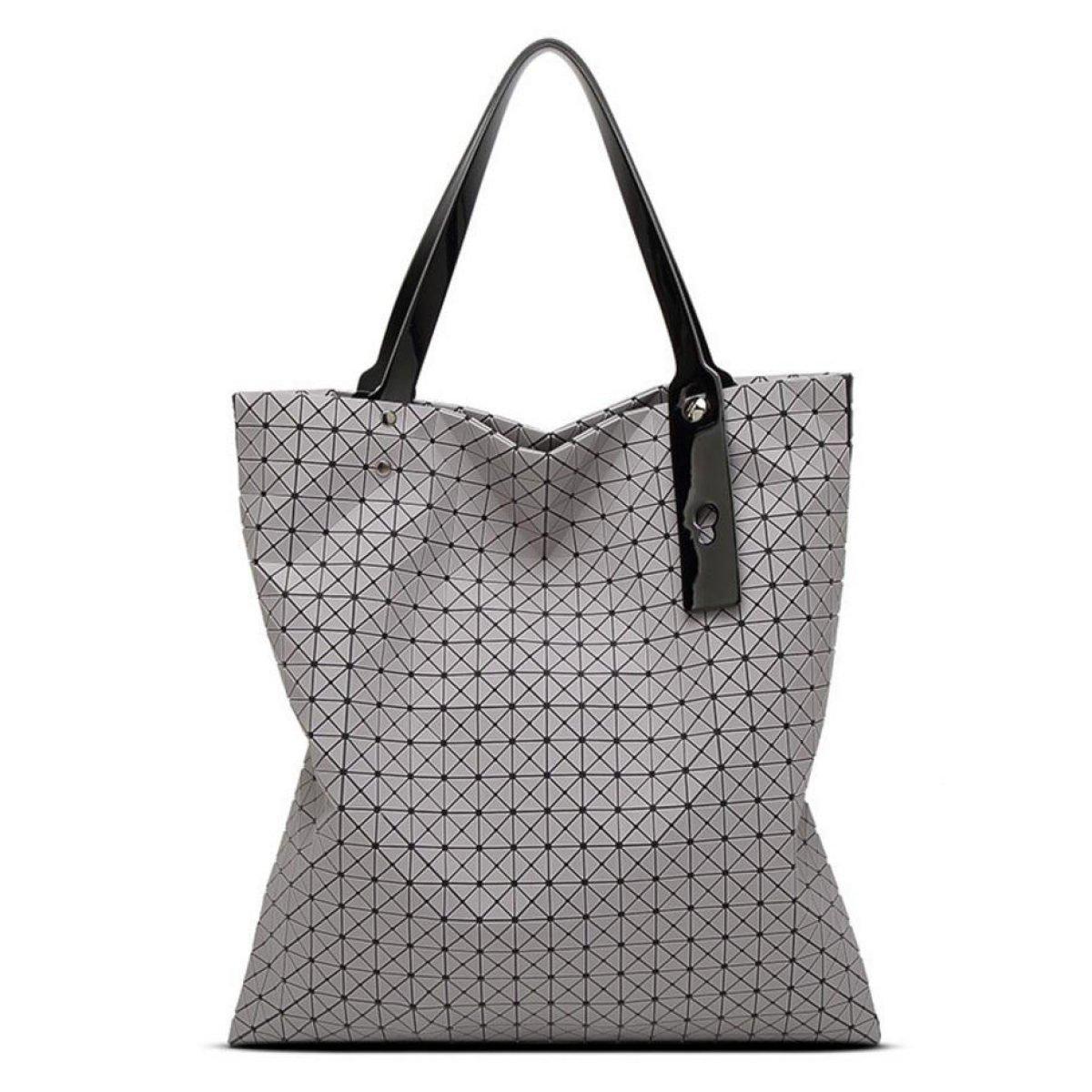 Silikon 21 X 21 Handtasche Geometrie Falten Dame Umhängetasche Koreanische Version Trendy Dreieck Ling Tasche,Blue-OneSize CHENGXIAOXUAN