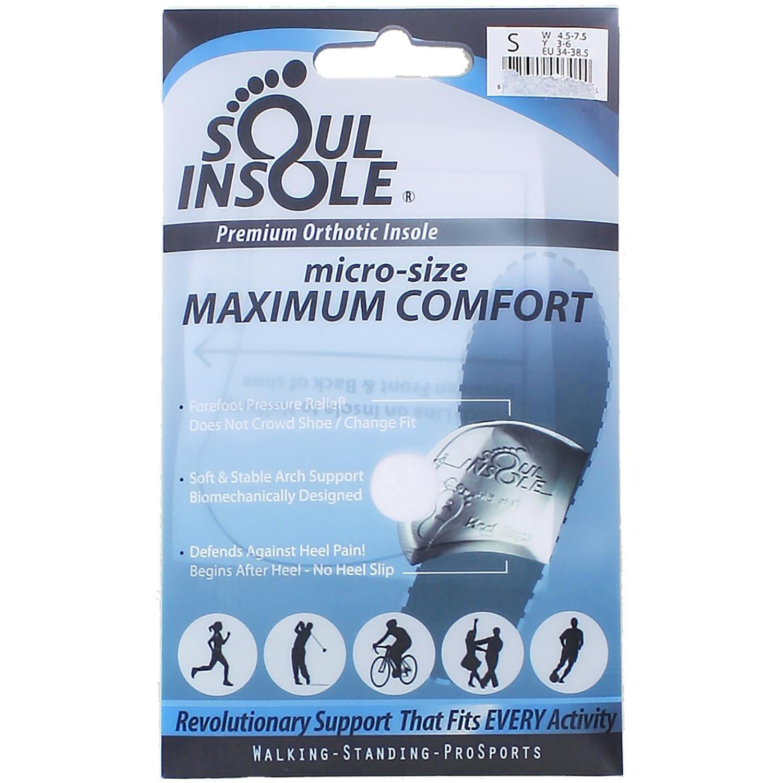 SOUL INSOLE micro-size MAXIMUM COMFORT Premium Orthotic Insole Size MEDIUM