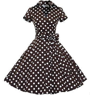 Kleid polka dots braun