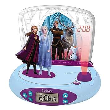 LEXIBOOK Disney Frozen 2-Reloj Despertador con Proyección de ...