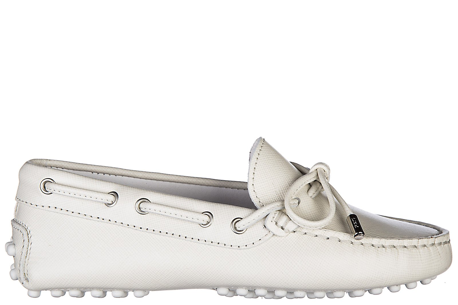 Tod's Boys Shoes Baby Child Loafers Moccassins Leather leccetto occhielli gommini Junior White US Size 13 UXC00G050307Y9C0