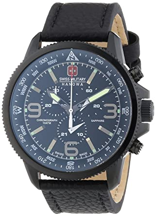 Swiss Military 6-4224-13-007 Mens Arrow Chrono Black IP Watch