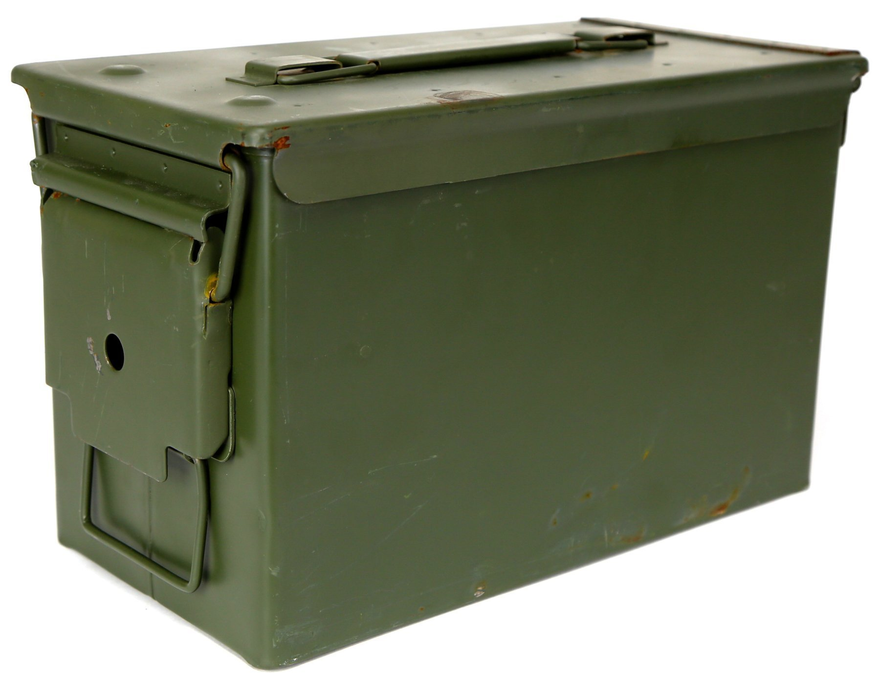 Military Outdoor Clothing Previously Issued U.S. G.I. M2A1 Metal 50-Caliber Ammo Box