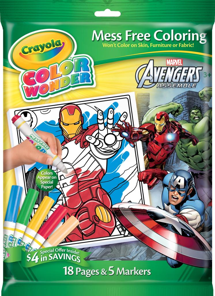 Amazon.com: Crayola Avengers Color Wonder Overwrap Markers: Toys & Games