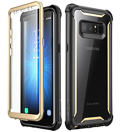 i-Blason Funda Galaxy Note 8 [Ares] 360 Grados Carcasa Completa con Protectores de Pantalla Incorporados para Samsung Galaxy Note 8 (2017) Negro
