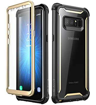 i-Blason - Carcasa para Samsung Galaxy Note 8 (Protector de Pantalla Integrado, Incluye Protector de Pantalla), Transparente