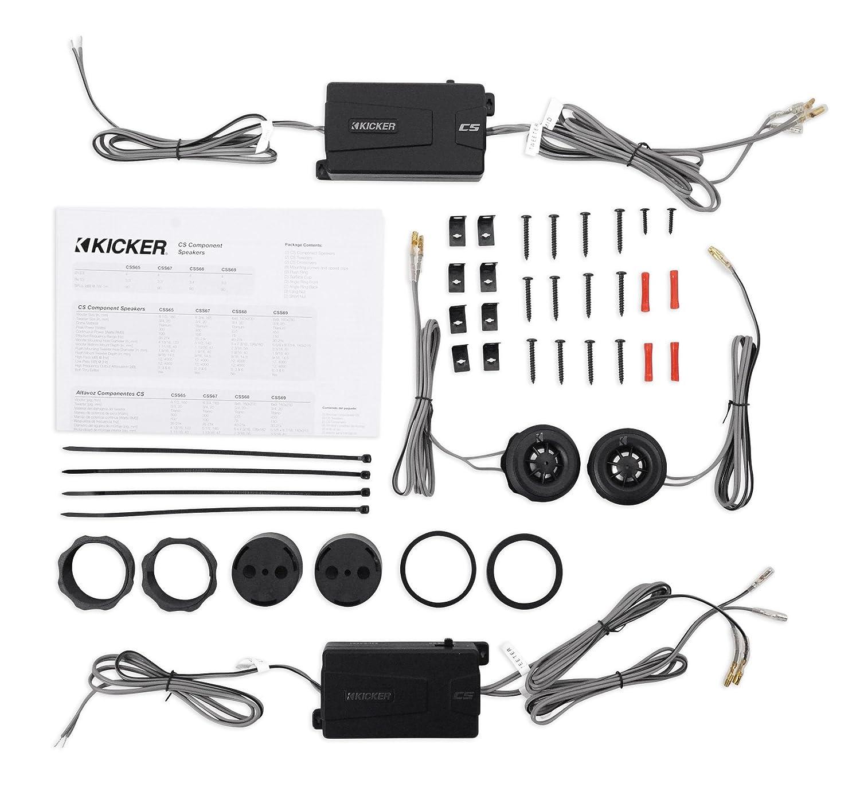 Kicker 43css684 6x8 450 Watt Car Audio Component Wiring Speakers Css68 Rockmat Electronics