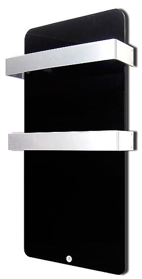 Haverland XTAL6N - Radiador secatoallas eléctrico 600W, color negro