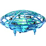 OMOTIYA Mini UFO Drones for Kids, LED Kids Drone for Age 8-12, Flying Toys Hand Controlled Drone for Kids 4-6 With 360 Degree