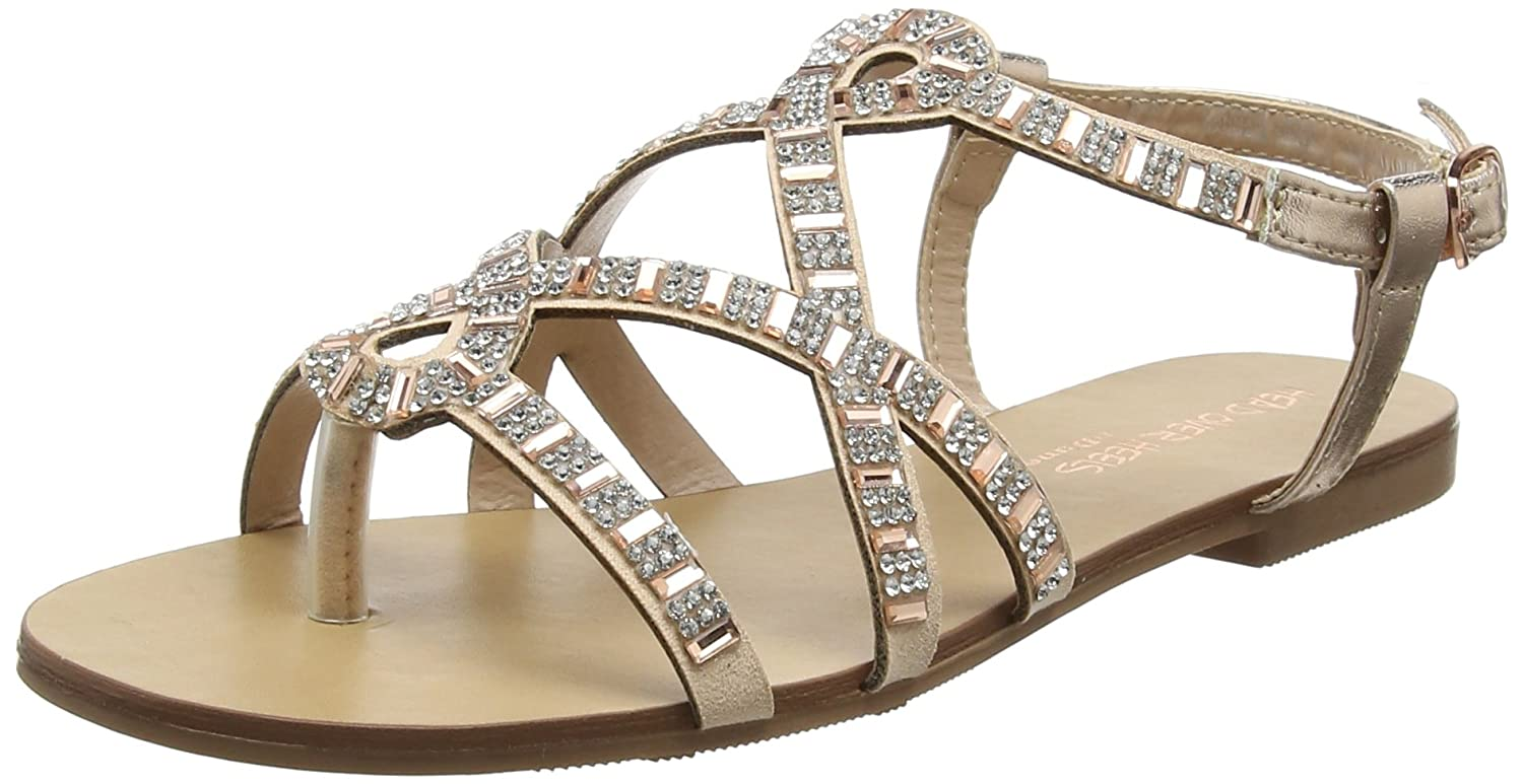 201a1f2bfb48b Head Over Heels Women's Nadias Ankle Strap Sandals, (Rose Gold), 3 ...