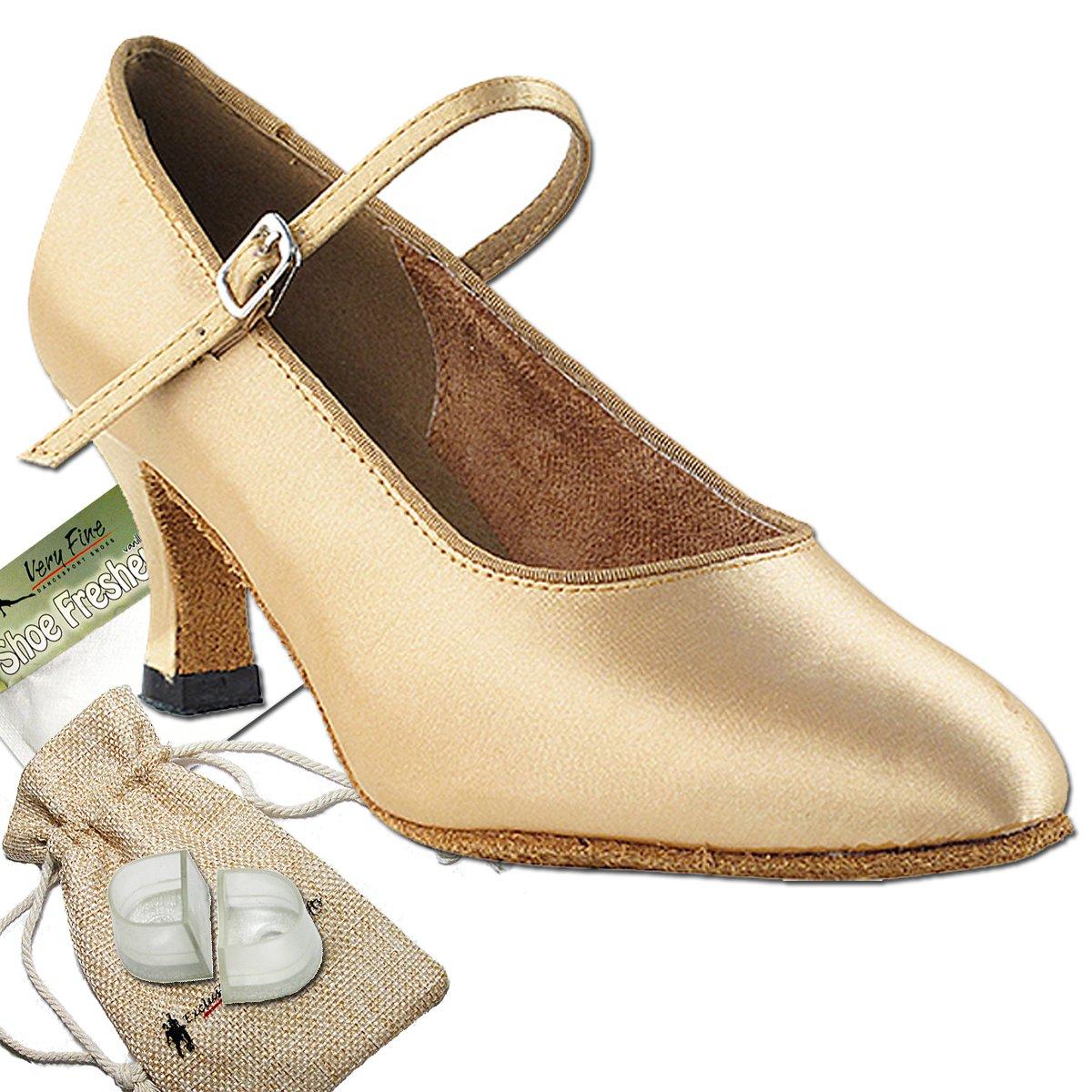 [Very Fine Shoes] レディース B00BZIZVM8 Light brown satin 8.5 (B,M) US
