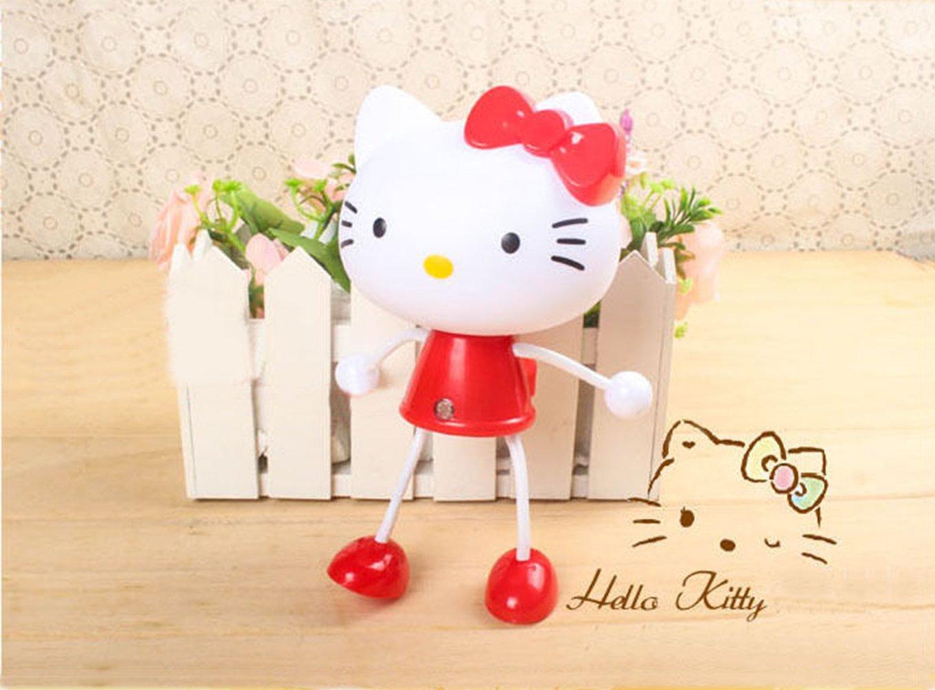 Cartoon Baby Kids Toddler Sensor Nightlight -Hello kitty, Panda, Frog (Hello kitty-Red) by Cutie Baby