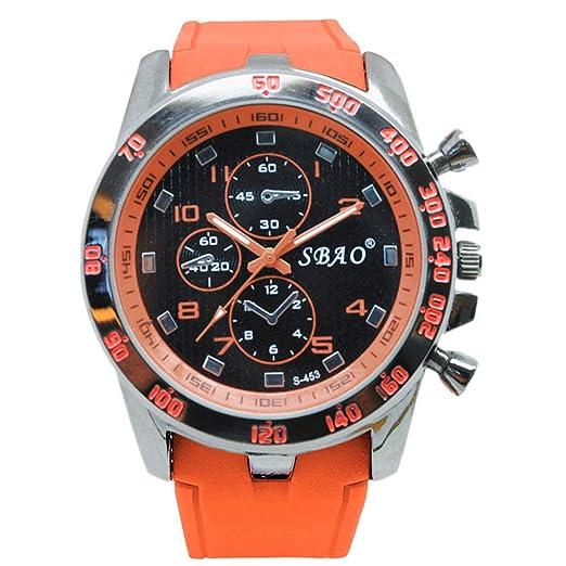 12shage/Reloj de Lujo Moderno de Acero Inoxidable Deportivo para Hombre. Reloj de Pulsera de Cuero.: Amazon.es: Relojes