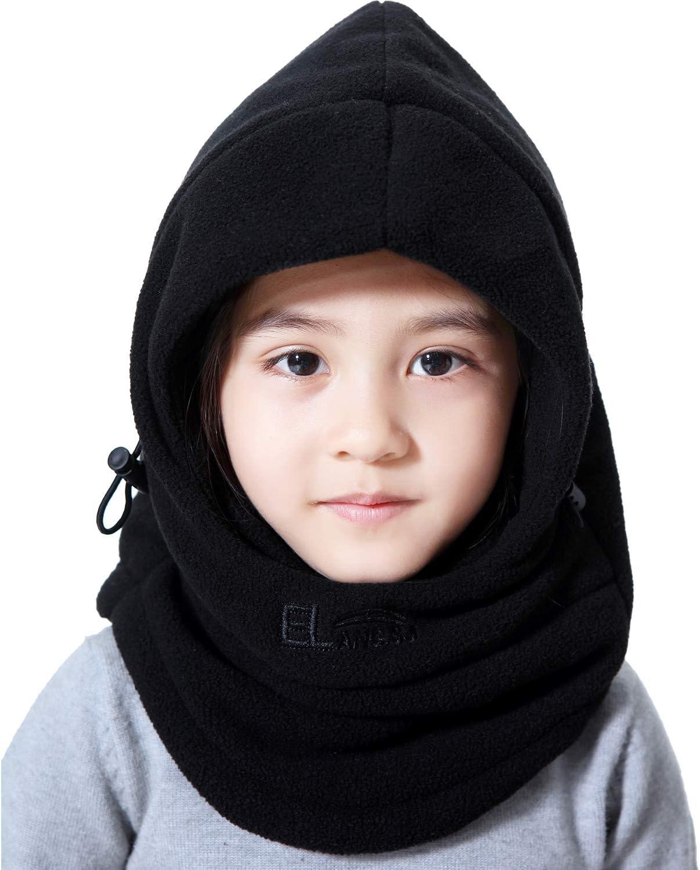Miracu Children's Lightweight Balaclava Winter Hat, Thick Windproof Soft Warm Fleece Kids Ski Cap Face Mask Winter Hood for Outdoor Sports