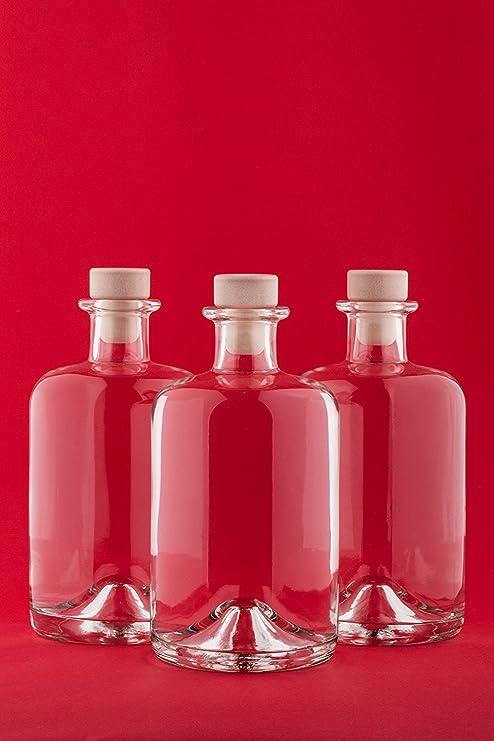 slkfactory Botellas vacías de Farmacia de 500 ML Botella de Vino Botella de Licor Botella de