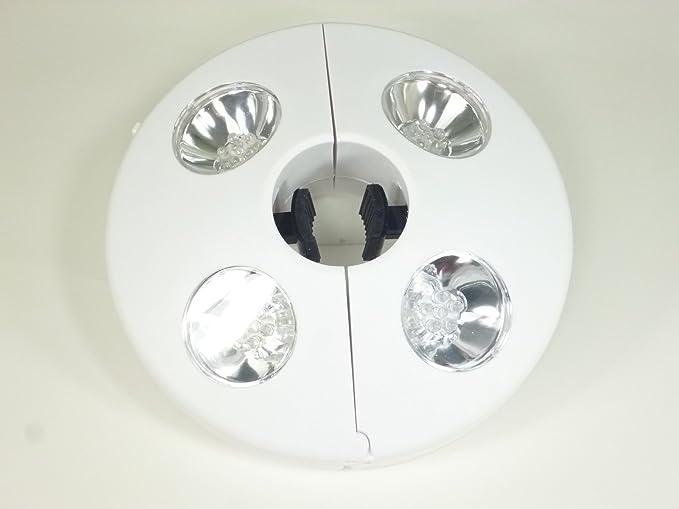 Led solare luce di ombrello bianco d cm batteriebetrieben v