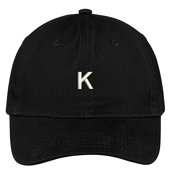 Trendy Apparel Shop Letter K Block Font Embroidered Dad Hat Cotton Baseball  Cap - Black 692c02ec2bb9