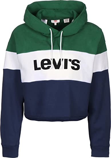 Levi's Raw Cut Crop W Sweat à Capuche Evergreen: