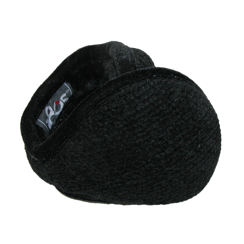 180s Women's Chenille Wrap Around Earmuffs, Black