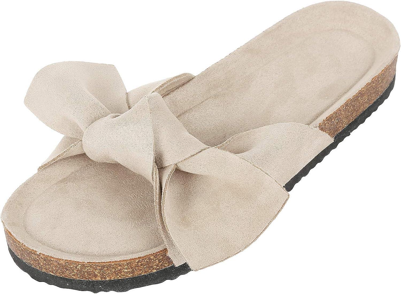 Ruanyu Womens Flat Slide Sandals Open