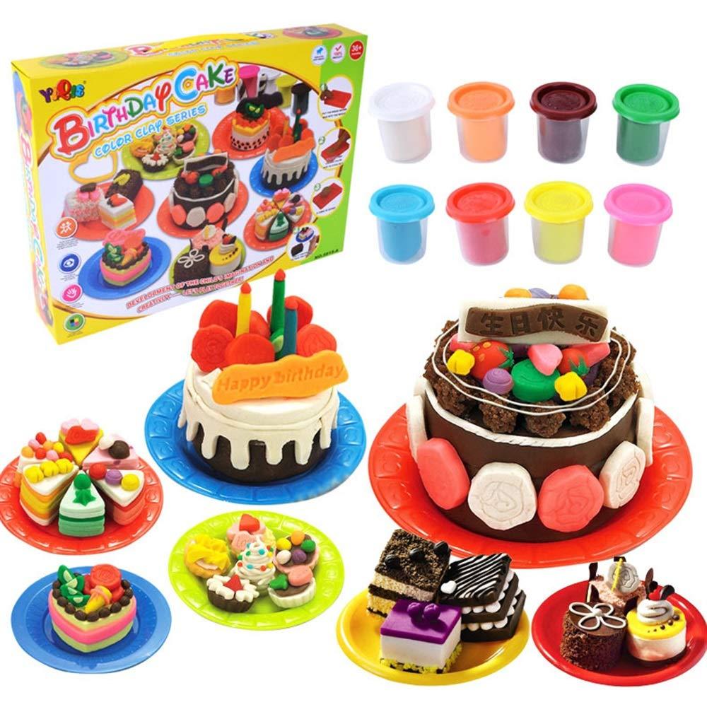Kids Fun Ton Spielzeug süße Kinder Küche Spielzeug Geburtstag Kuchen Farbe Ton Anzug handgemachte Spielzeug