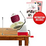 On Yarn Ball Winder Hefty Hand Operated Jumbo Size Knitting Yarn Winder