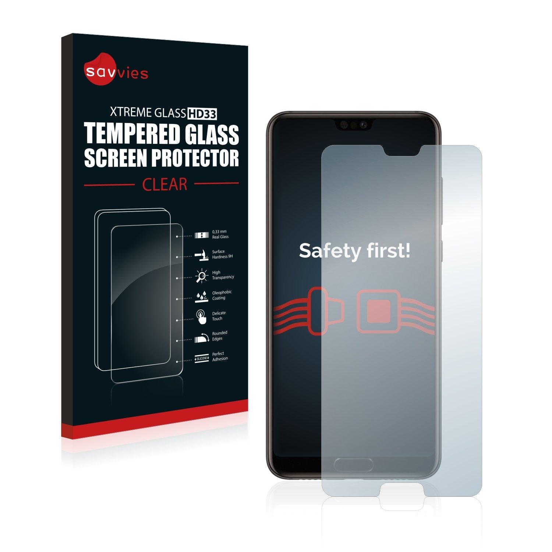 3 Pi/èces Film Protection Ecran savvies Verre Tremp/é Compatible avec Huawei P20 9H