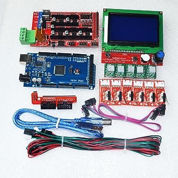 Kit de impresora 3D CNC para Mega 2560 R3 + RAMPS 1.4 Controlador ...