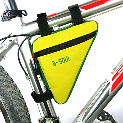 Triangle Bag Cycling Bike Bicycle Front Frame Tube Pouch Holder Saddle Panniers