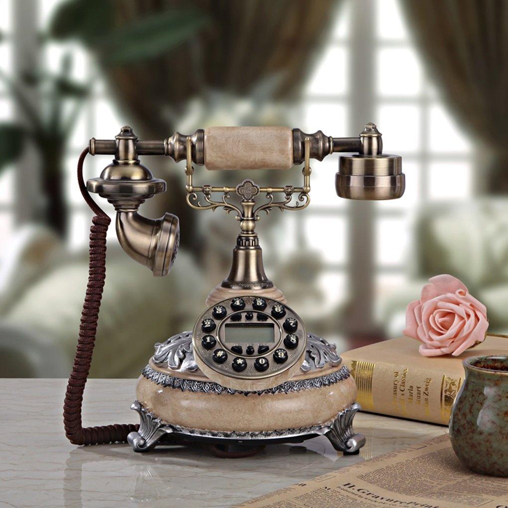 Edge To デジタル電話 レトロリビングルームヨーロピアンスタイルのアンティーク電話固定電話固定電話の古いベッドルームの装飾 B07FFM7RYZ