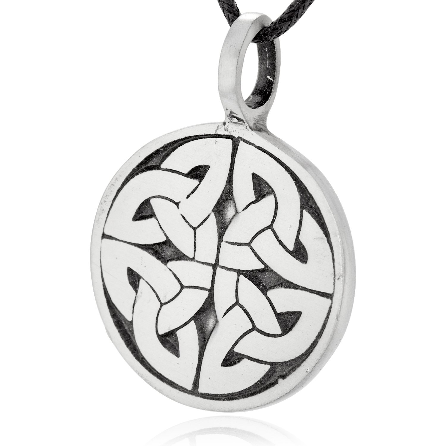Dan's Jewelers Engraved Celtic Trinity Knot Necklace Pendant + Silver Plated Clasp, Fine Pewter Jewelry by Dan's Jewelers (Image #2)