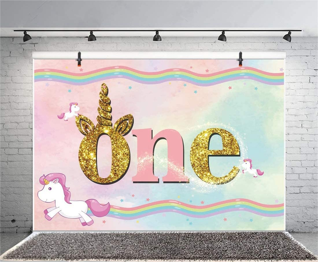 Yeele 6x4ft Unicorn Photography Background One Birthday Party Decoration 1st Birthday Dreamy Flying Unicorn Pink Backdrops Kid Audults Baby Pohoto Portrails Artistic Studio Props