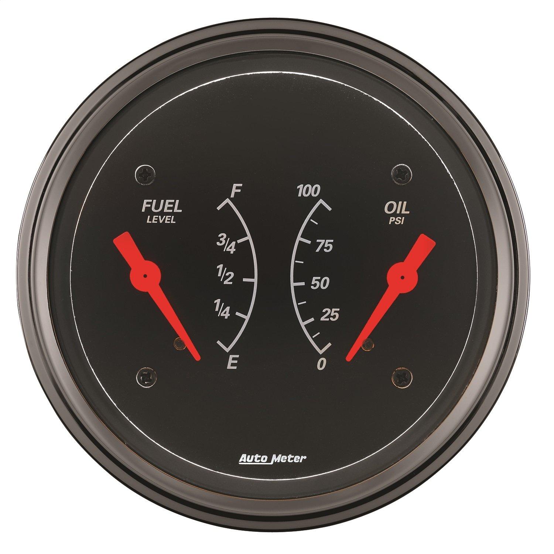 Auto Meter 1413 Designer Black Oil/Fuel Dual Gauge by Auto Meter