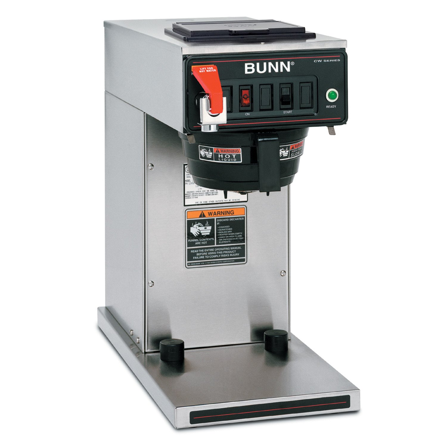 BUNN 12950.0360 12 Cup CWTF15-TC Automatic Commercial Thermal Coffee Brewer, Black/Stainless (120V)