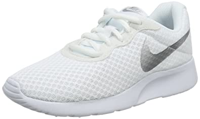 c454d92b580 Image Unavailable. Image not available for. Color: NIKE Women's Tanjun White/Metallic  Silver Size 5 B(M) US